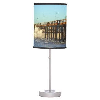 Ocean Wave Storm Pier Table Lamp