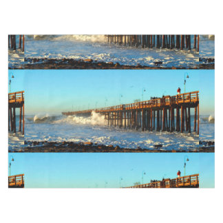 Ocean Wave Storm Pier Tablecloth