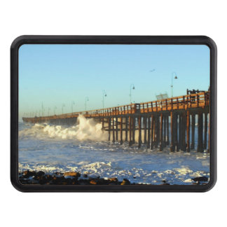 Ocean Wave Storm Pier Trailer Hitch Cover