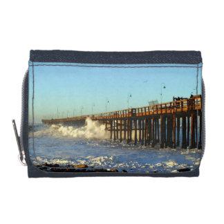 Ocean Wave Storm Pier Wallet