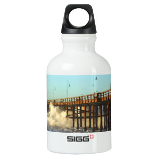 Ocean Wave Storm Pier Water Bottle
