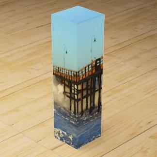 Ocean Wave Storm Pier Wine Box
