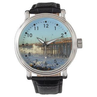 Ocean Wave Storm Pier Wrist Watches