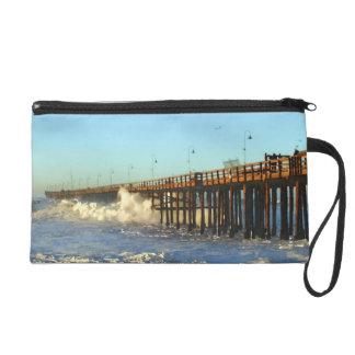 Ocean Wave Storm Pier Wristlet