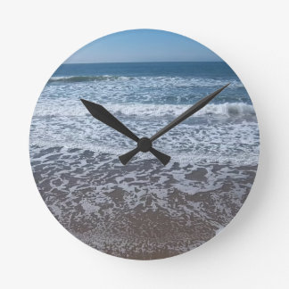 Ocean Waves #1 Round Clock