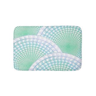 Ocean Waves Abstract Bath Mat