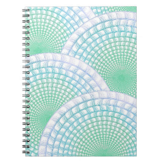 Ocean Waves Abstract Spiral Notebook