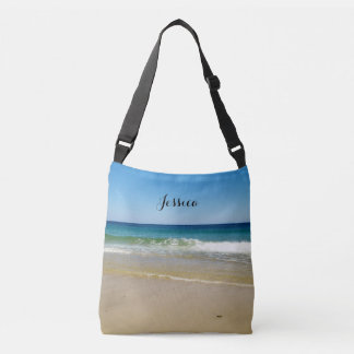 Ocean waves and beach crossbody bag