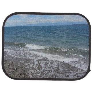 Ocean Waves and Beach Scene Car Mat