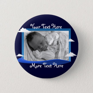 Ocean waves and blue sky Frame Button