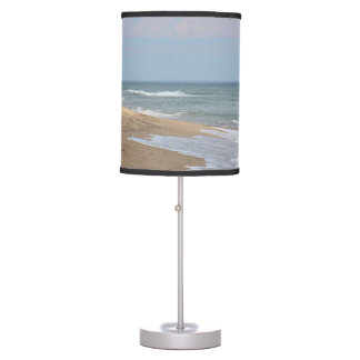 Ocean waves and sandy beach desk lamps