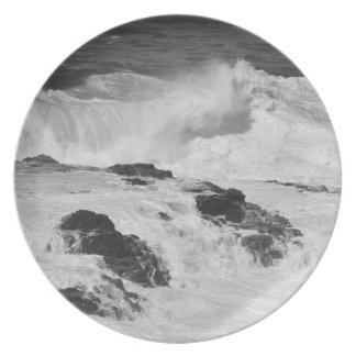 Ocean Waves at Kilauea Party Plates