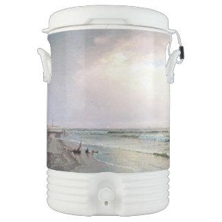 Ocean Waves Beach Lighthouse NJ Igloo Cooler