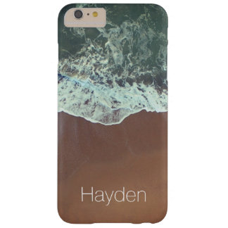 Ocean Waves Beach Photography Custom Name Barely There iPhone 6 Plus Case
