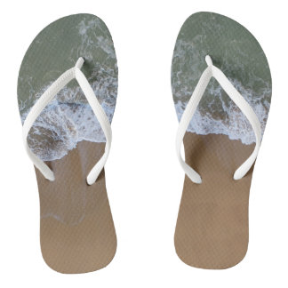 Ocean Waves Beach Photography Flip Flops