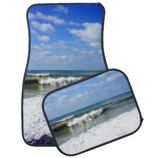 Ocean Waves Beach Scene Auto Mat