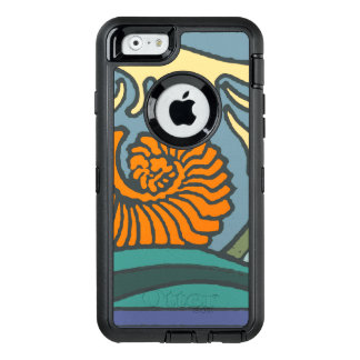 Ocean Waves Blue Colorful OtterBox Defender iPhone Case