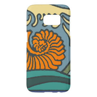 Ocean Waves Blue Colorful Samsung Galaxy S7 Case