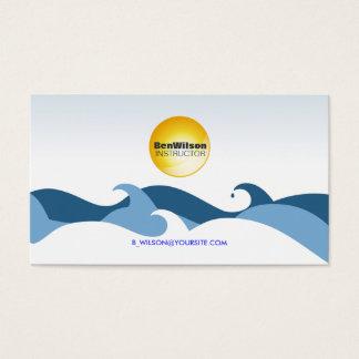 Ocean Waves Business Card V2