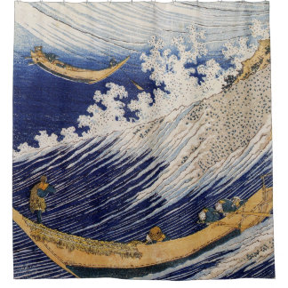 Ocean Waves by Hokusai Shower Curtain