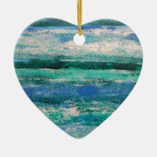Ocean Waves Ceramic Ornament