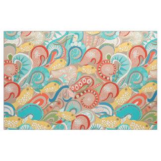 ocean waves fabric
