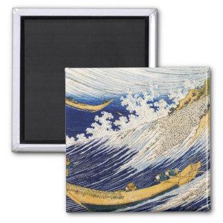 Ocean Waves Katsushika Hokusai masterpiece art Magnet