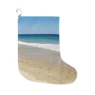 Ocean waves large christmas stocking