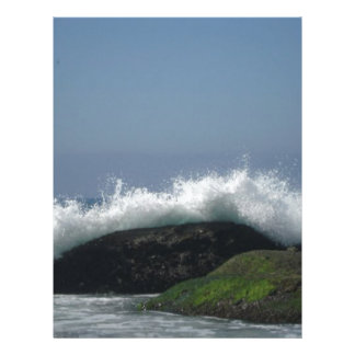 Ocean waves letterhead