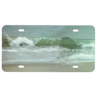 Ocean waves License Plate
