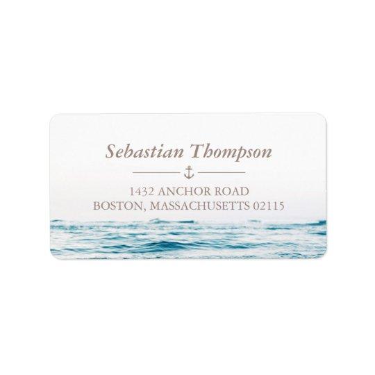 Ocean Waves Nautical Label