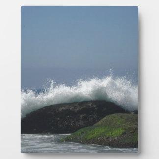 Ocean waves plaque