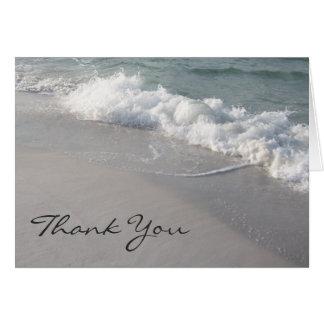 Ocean Waves & Sand Thank You Card