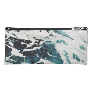 ocean waves sea beautiful blue water pencil case
