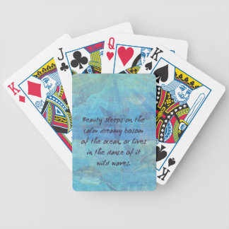 Ocean waves sea quote with sea life bicycle playing cards