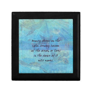 Ocean waves sea quote with sea life gift box