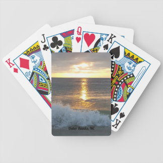 Ocean waves sunrise in the Outer Banks, NC Bicycle Playing Cards