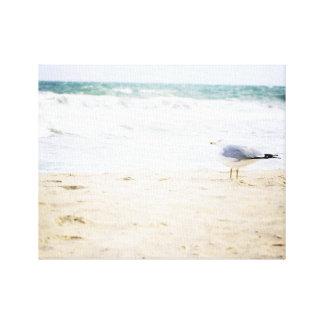 Ocean Waves Surf Seagull Water Beach Decor Canvas