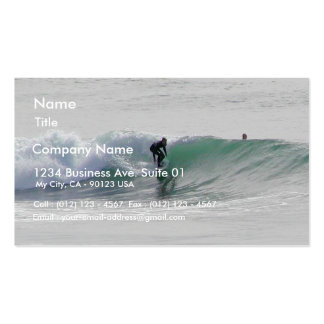 Ocean Waves Surfing Surfers Business Card Templates