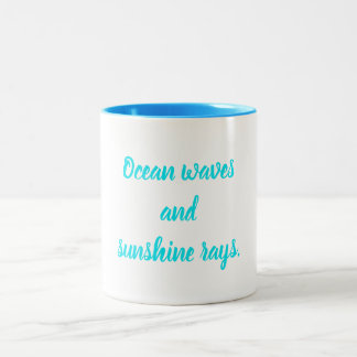 Ocean waves. Two-Tone coffee mug