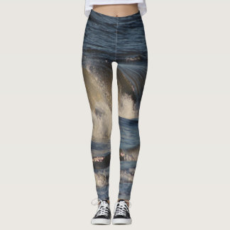 Ocean Waves Yoga Running Exercise Leggings