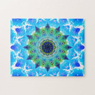 Ocean Waving Star Mandala Jigsaw Puzzle