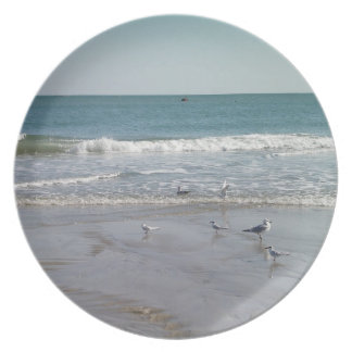 Ocean with Seagulls Plate