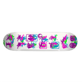 Ocean with whales and other sea creatures skateboards