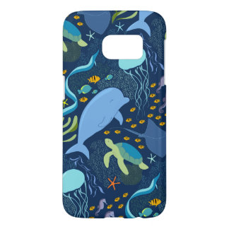 Ocean World Aquatic Deep Sea Pattern Samsung Case