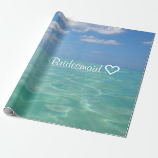 Ocean | Wrapping Paper| Bridesmaid Wedding Wrapping Paper
