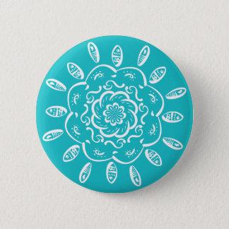 Oceana Mandala 2 Inch Round Button