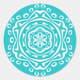 Oceana Mandala Classic Round Sticker