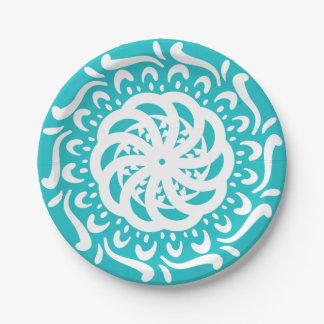 Oceana Mandala Paper Plate