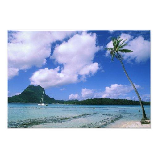 Oceania, French Polynesia, Tahiti. View of Photograph
